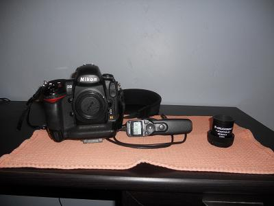 Left to right nikon d3 hand controller and t adaptor for connecting